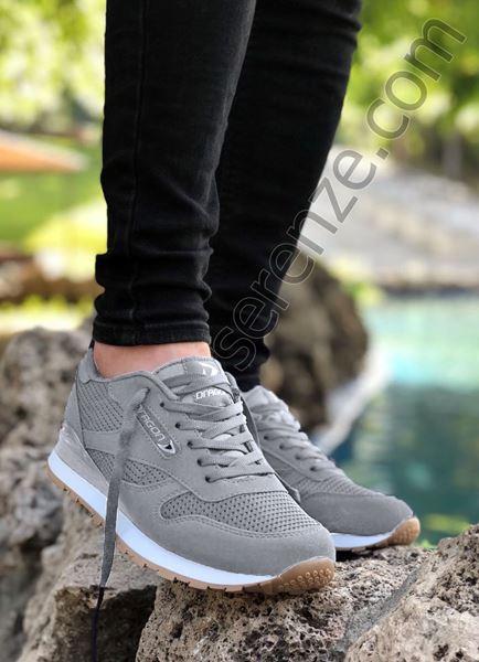 Gri Yazlık Erkek Spor Ayakkabı