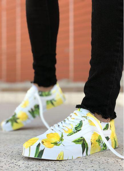 Limon Baskılı Tasarım Erkek Spor Ayakkabı