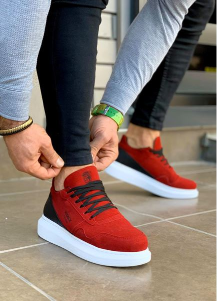 Serenze Pars Kırmızı Nubuk Yüksek Taban Erkek Spor Ayakkabı
