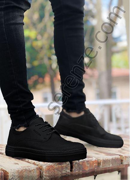 Siyah Delikli Klasik Tarz Erkek Günlük Ayakkabı