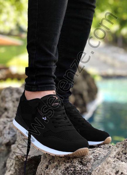 Siyah Yazlık Erkek Spor Ayakkabı