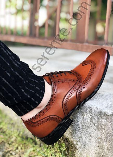 Taba Deri Tarz Erkek Klasik Ayakkabı