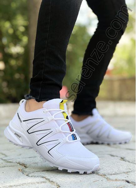 Beyaz Yazlık Trekking Erkek Spor Ayakkabı