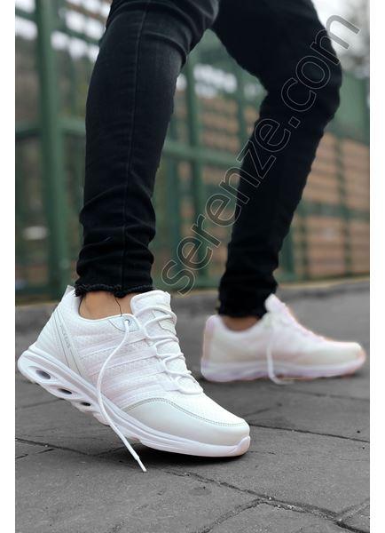 Beyaz Dalga Taban Hafif Erkek Spor Ayakkabı