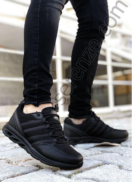 Siyah Dalga Taban Hafif Erkek Spor Ayakkabı