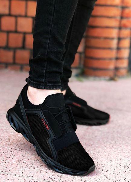 Fileli Siyah Erkek Spor Ayakkabı