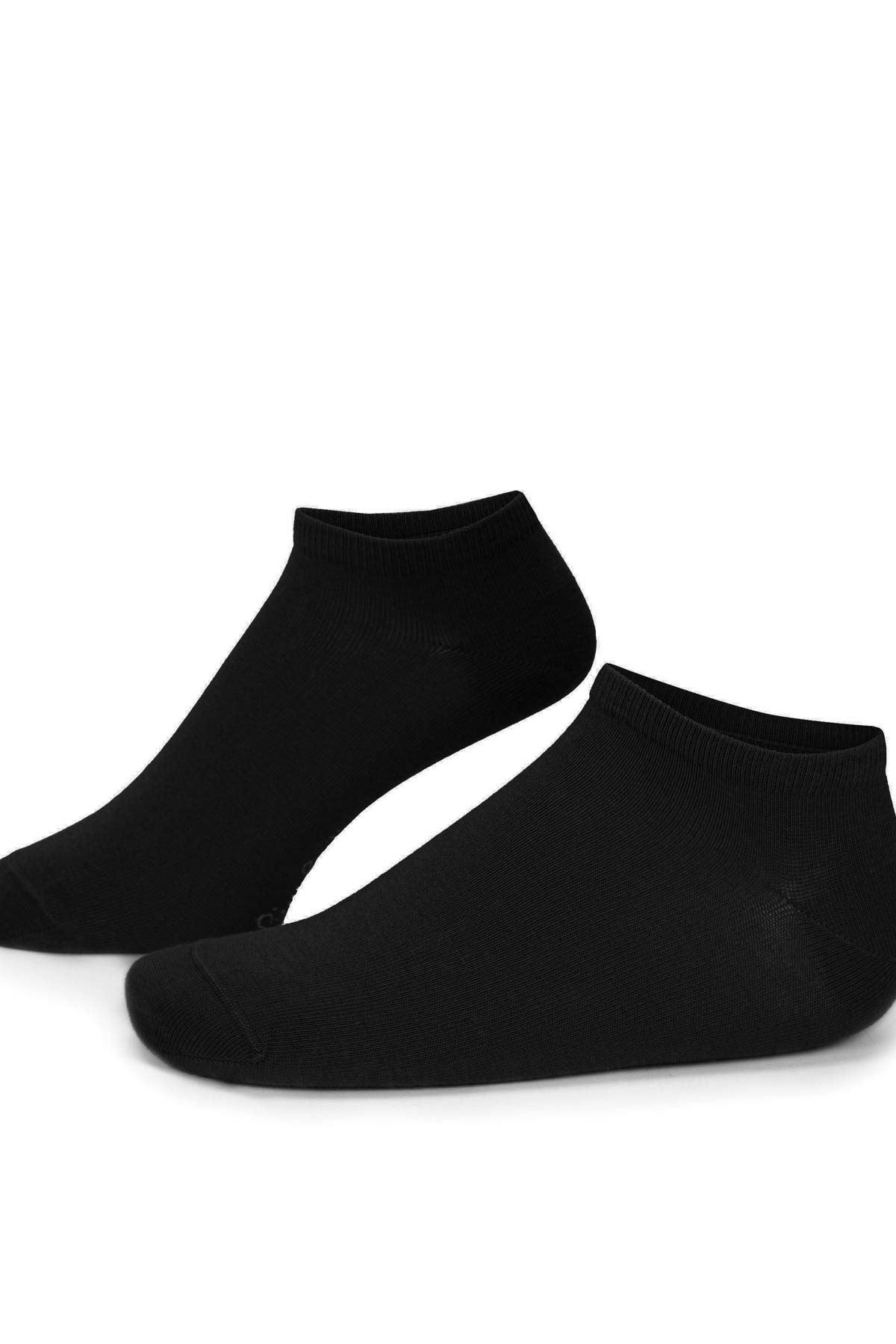 5 Adet Siyah Erkek Patik Çorap (40-44)