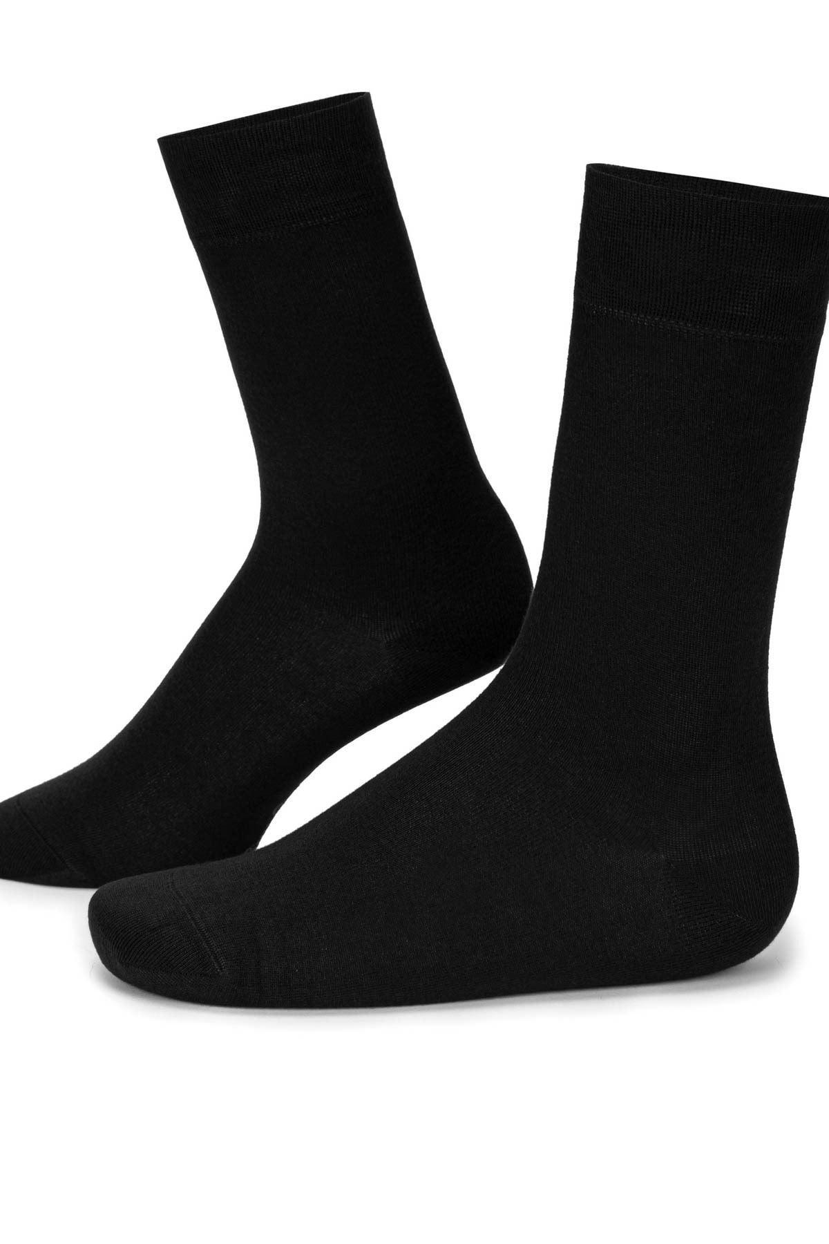 5 Adet Siyah Erkek Uzun Çorap (40-44)