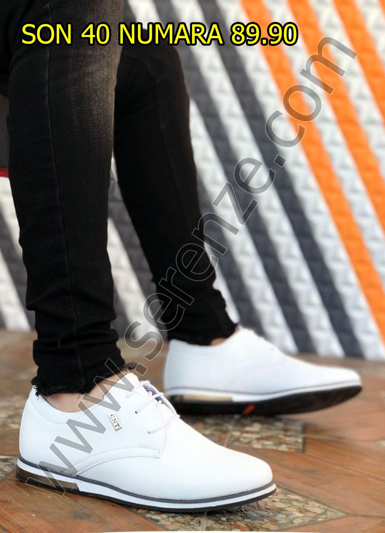 Beyaz Günlük Erkek Ayakkabı