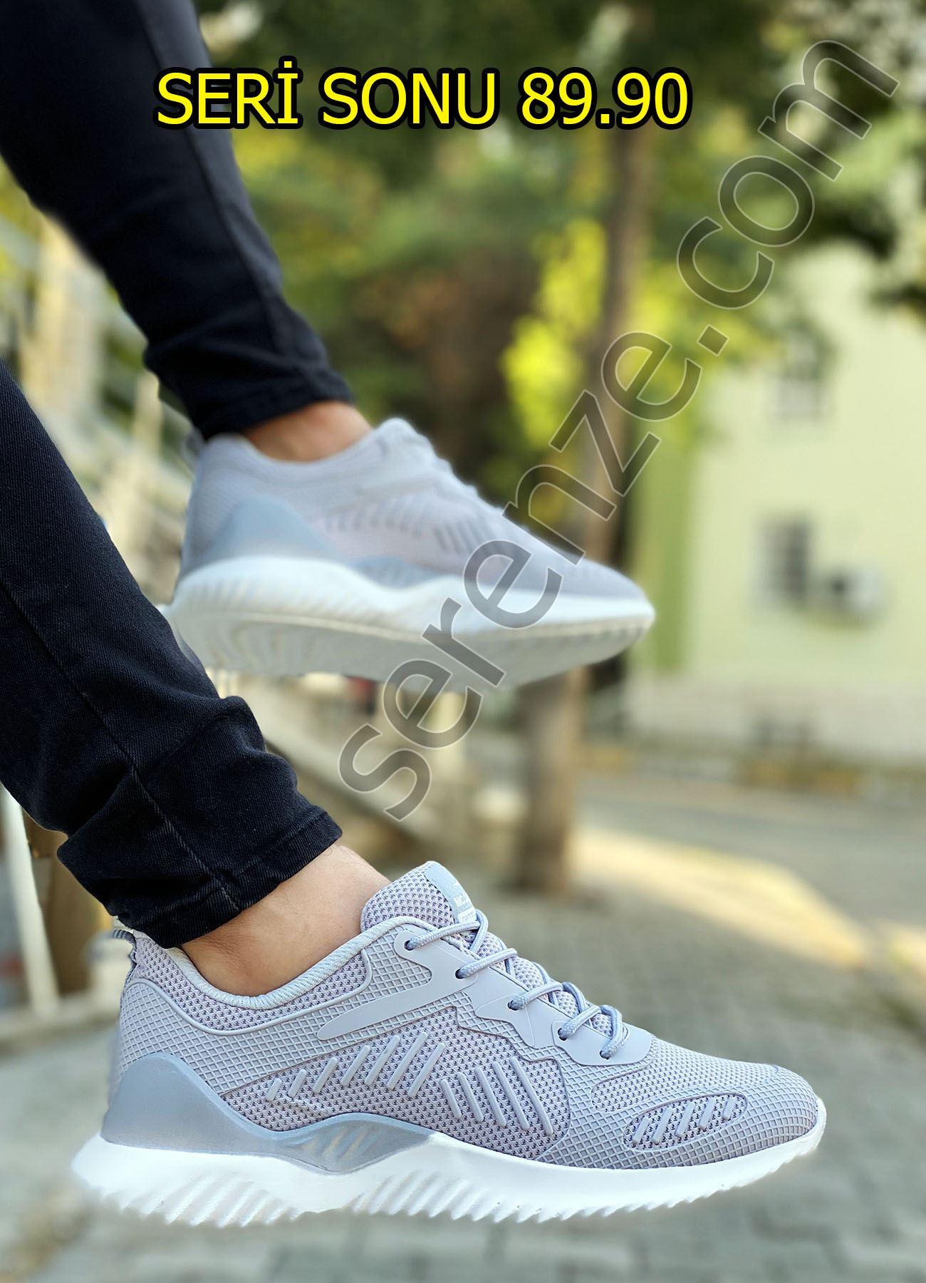 Gri Triko Rahat Erkek Spor Ayakkabı