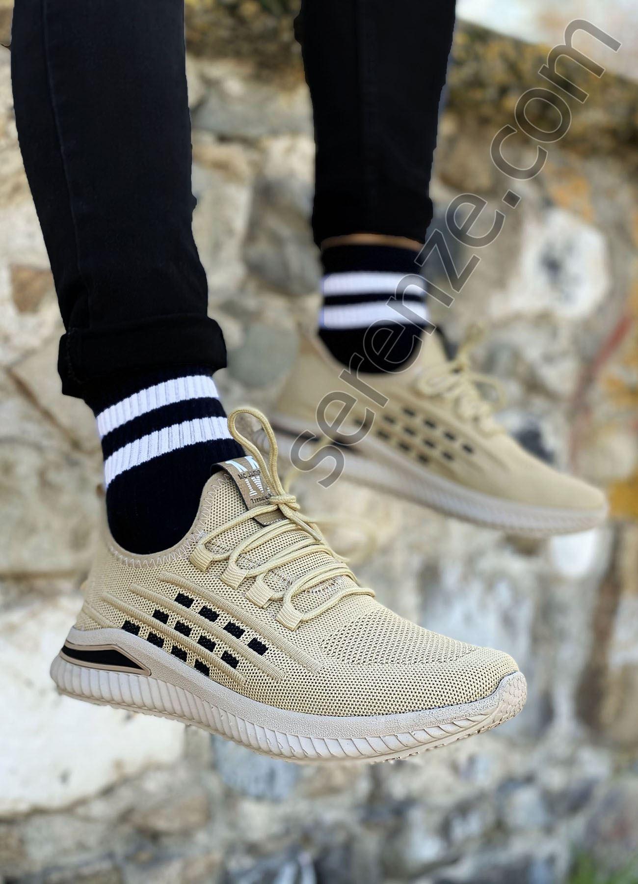 Sahra Kare Desen Triko Erkek Spor Ayakkabı