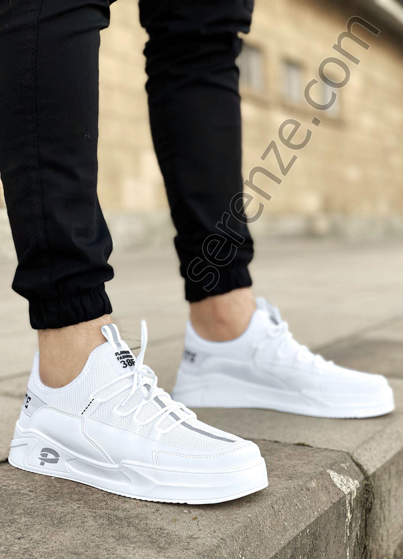 Beyaz Çizgi Detay Erkek Spor Ayakkabı