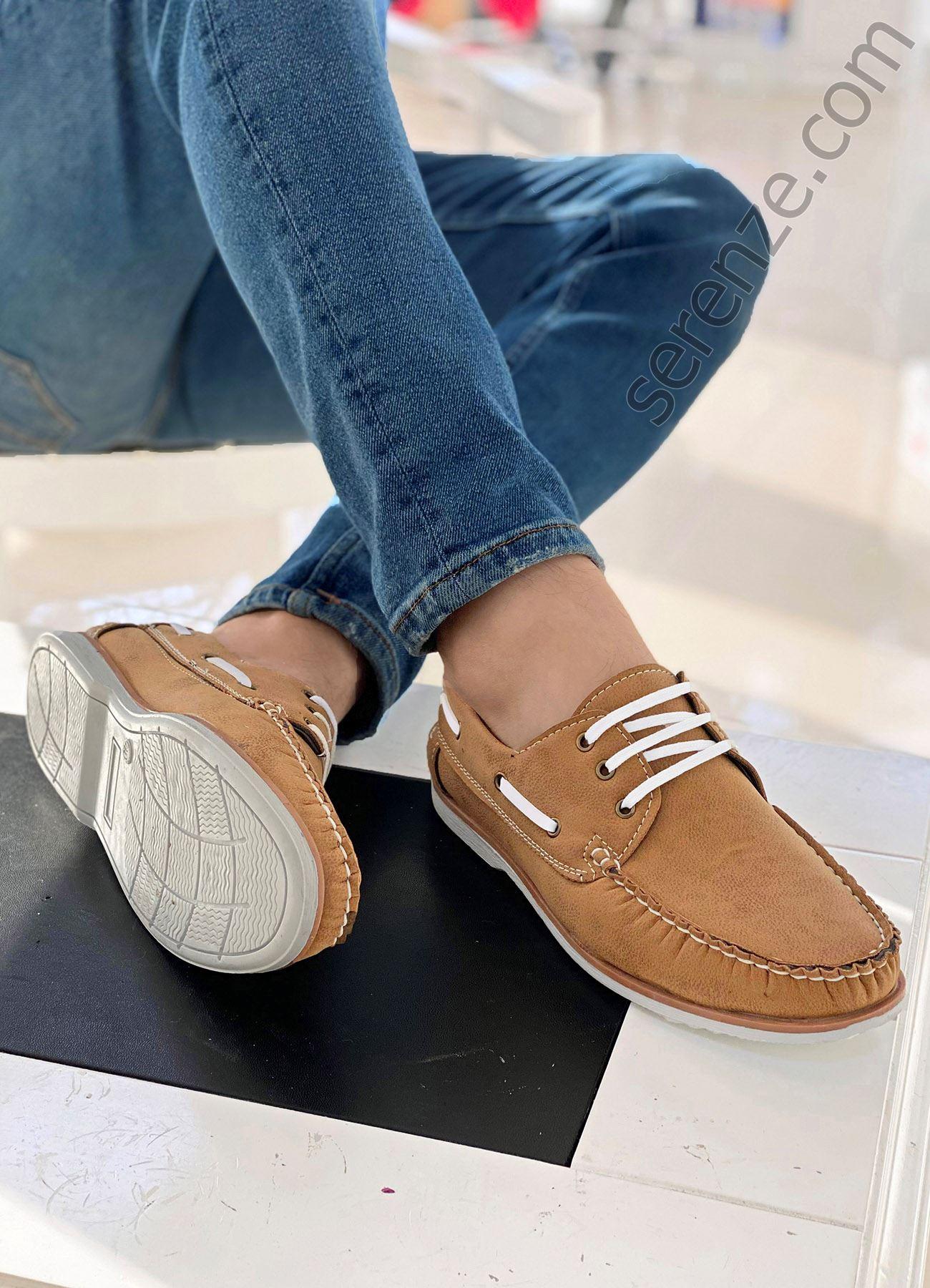 Taba Bağcıklı Erkek Klasik Ayakkabı