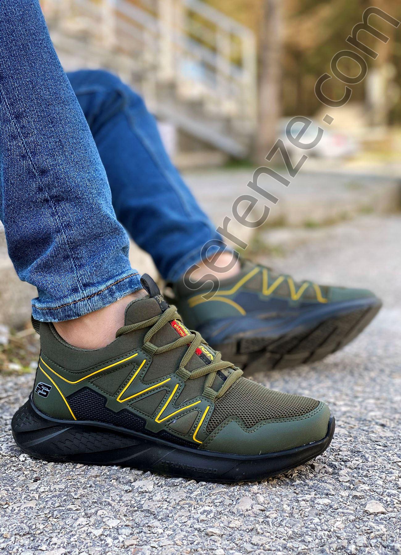 Haki Outdoor Trekking Erkek Spor Ayakkabı