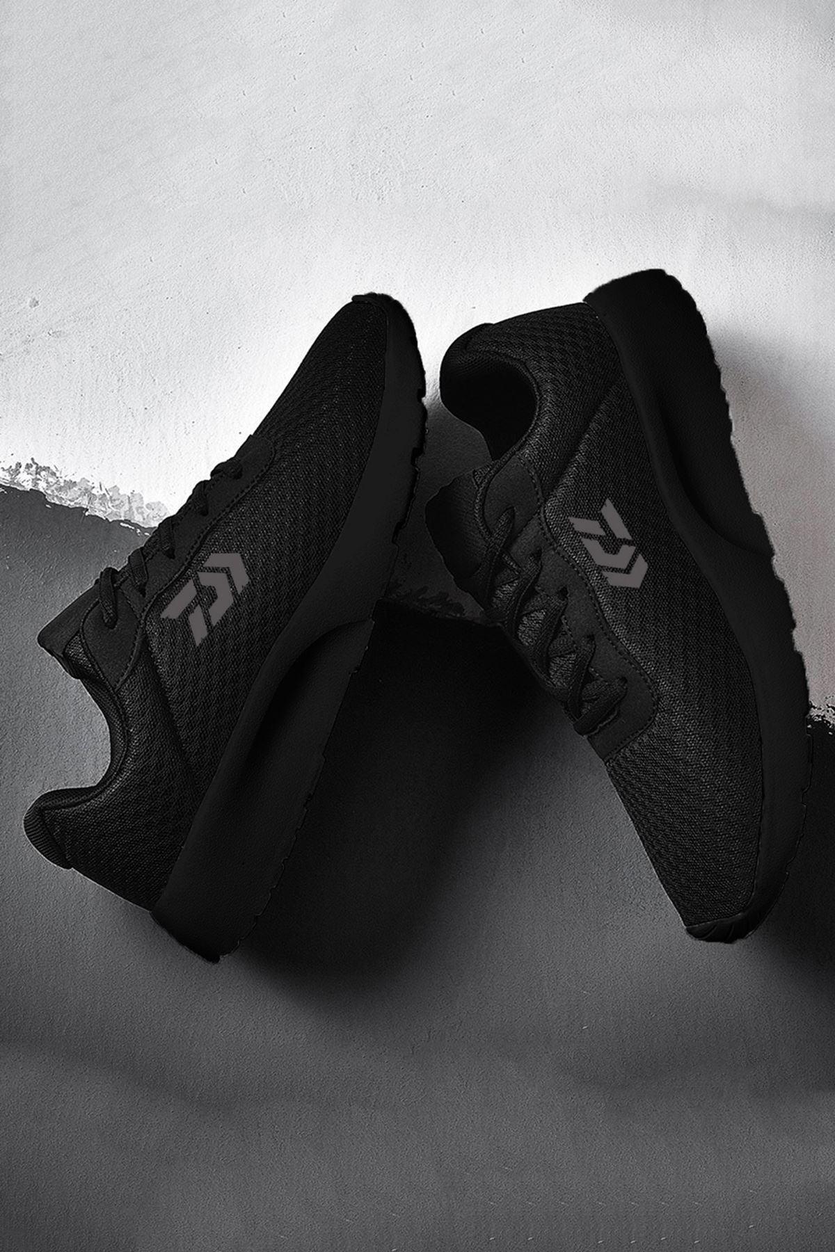 Siyah Ultra Hafif Erkek Spor Ayakkabı