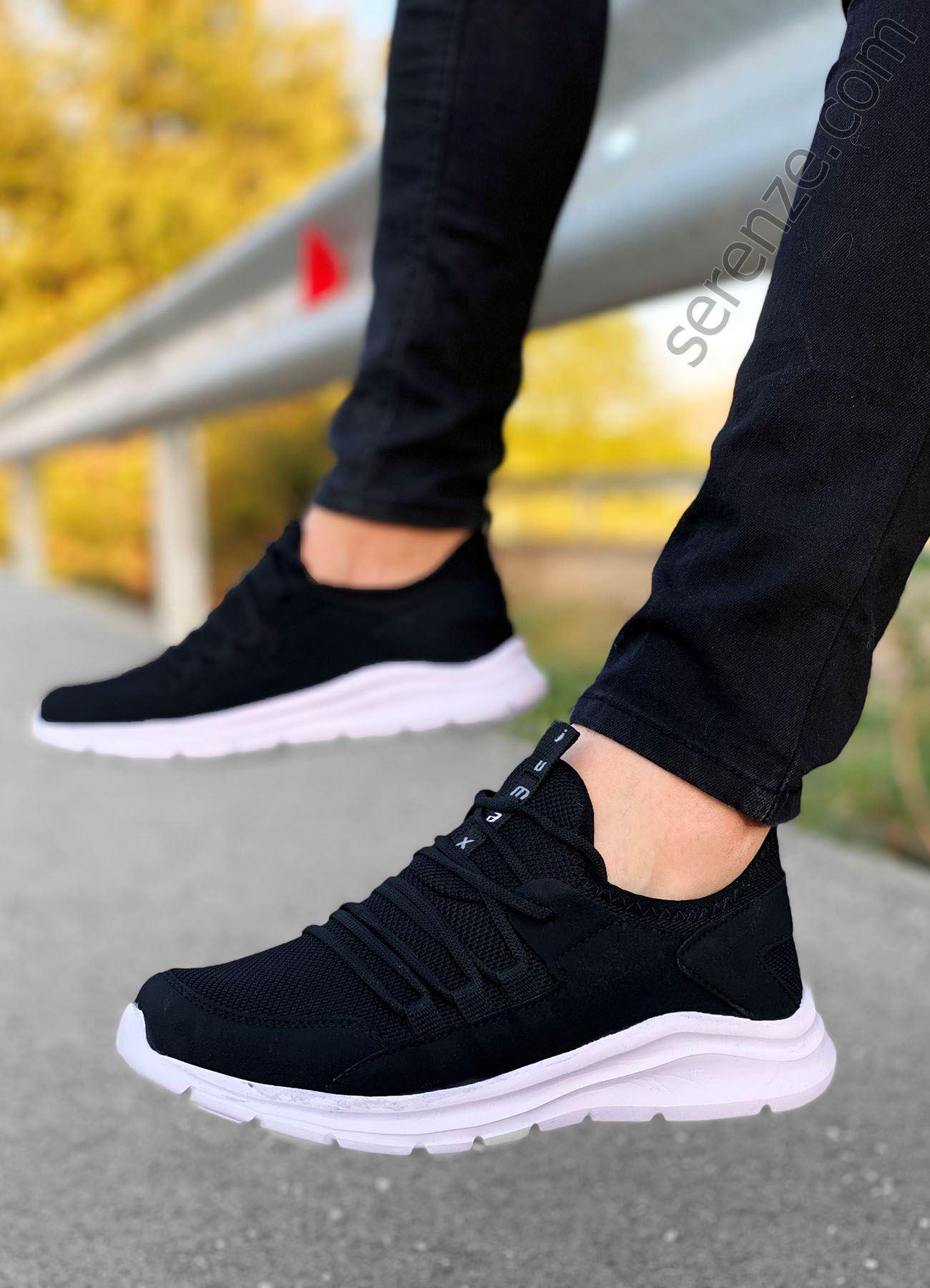 Siyah Beyaz File Erkek Spor Ayakkabı