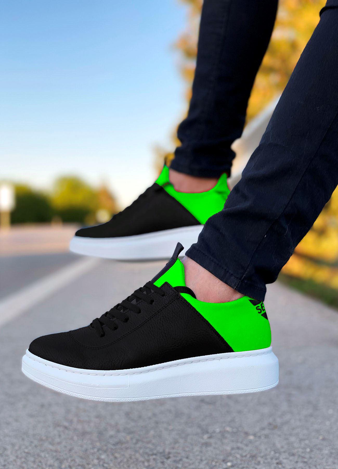 Serenze Neon Yeşil Siyah-Beyaz Erkek Spor Ayakkabı