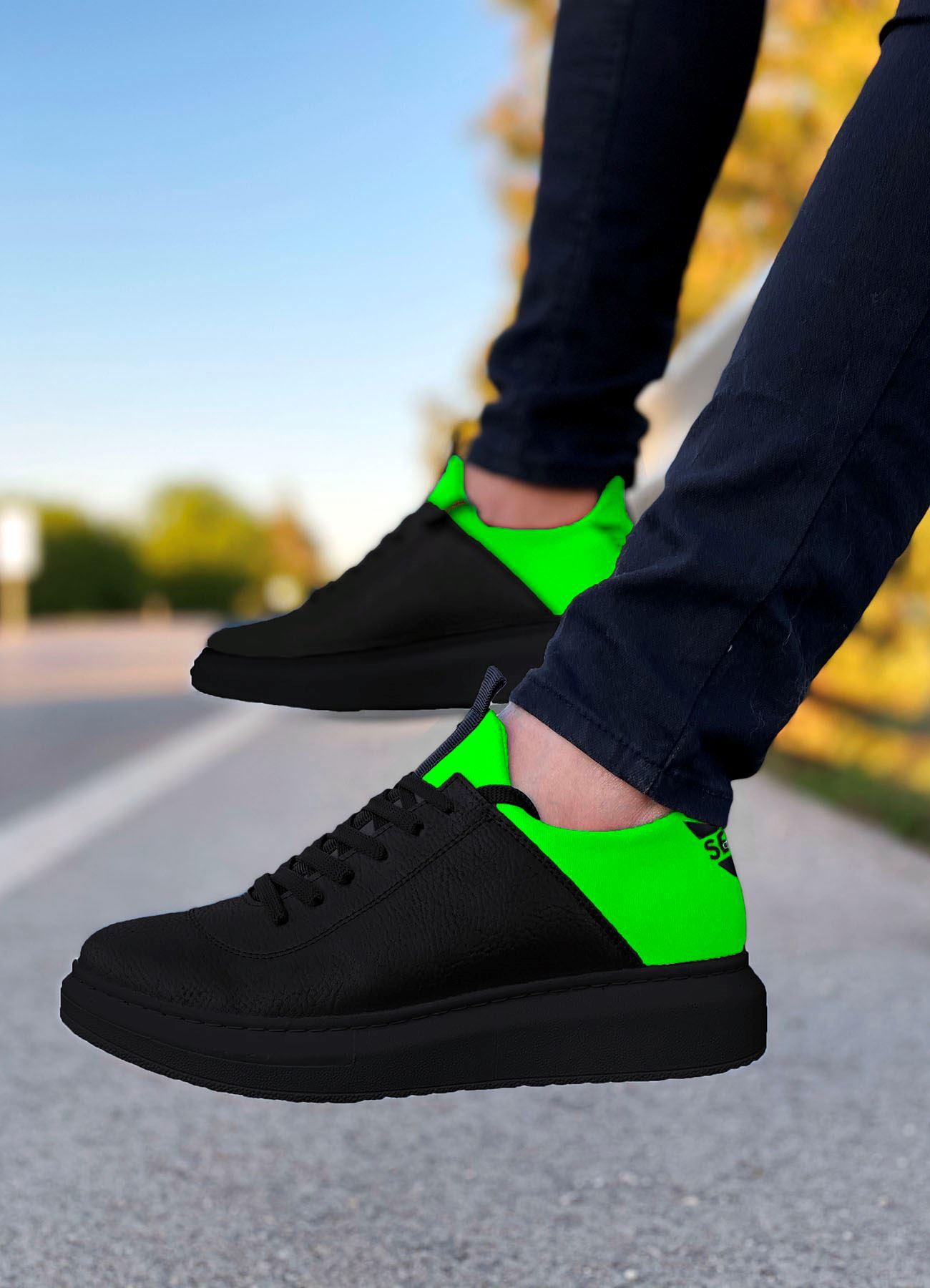 Serenze Neon Yeşil Siyah Erkek Spor Ayakkabı