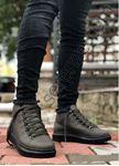 Bot model Yüksek Taban Haki-Siyah Erkek Ayakkabı