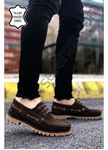 Kahve Nubuk Hakiki Dana Derisi Erkek Klasik Ayakkabı
