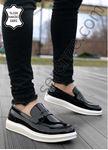 Hakiki Deri Rugan Siyah Erkek Klasik Ayakkabı