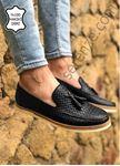 Siyah Piramit Desen Hakiki Deri Erkek Klasik Ayakkabı