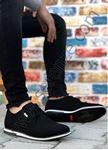 Siyah Süet Beyaz Taban Erkek Günlük Ayakkabı