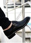 Siyah Gümüş Detay Erkek Klasik Ayakkabı