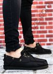Siyah Keten Erkek Spor Ayakkabı