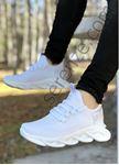 Beyaz Örme Triko Tekno Erkek Spor Ayakkabı