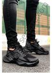 Siyah Mekanik Ultra Hafif Erkek Spor Ayakkabı