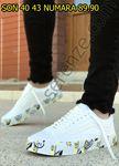 Taban Karışık Baskılı Tasarım Erkek Spor Ayakkabı
