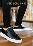 Serenze Caen Siyah Beyaz Taban Klasik Model Erkek Spor Ayakkabı