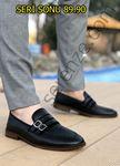 Siyah Tokalı Ortopedik Erkek Klasik Ayakkabı
