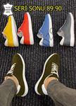 Haki Süet Hakiki Deri İnce Taban Erkek Spor Ayakkabı