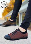 Kahve Hakiki Deri Ortopedik Çarık Ayakkabı