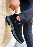 Siyah Sarı Outdoor Trekking Erkek Spor Ayakkabı